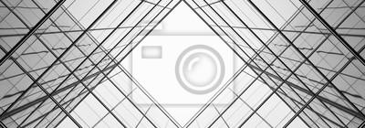 Image architecture de la géométrie à la fenêtre de verre - monochrome
