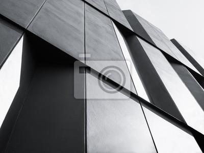 Image Architecture, détail façade, conception moderne, bâtiment, noir, blanc