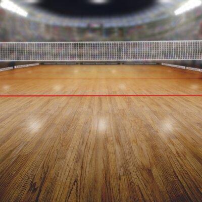 Image Arène de volley-ball avec les spectateurs et l'espace de copie