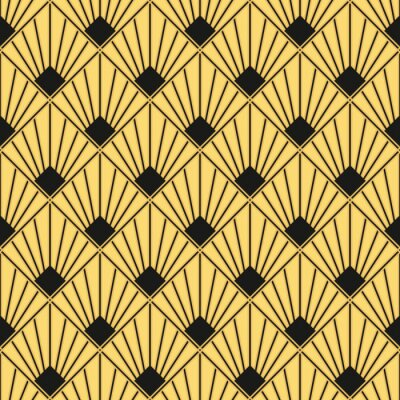 Image Art Déco Motif Papier Peint Vintage Sans Soudure