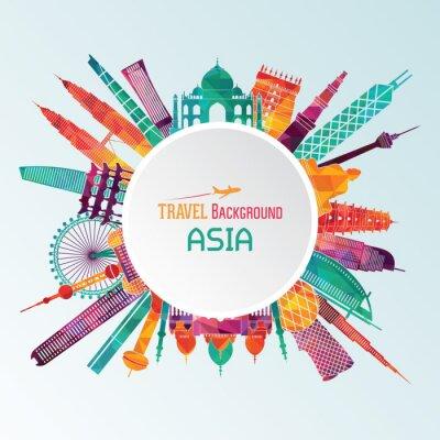 Image Asie silhouette détaillée. Illustration vectorielle