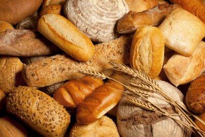 Image assortiment de pain cuit avec du blé