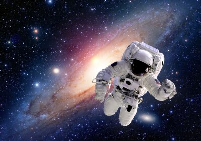 Image Astronaute cosmonaute costume espace gens de système solaire univers. Éléments de cette image fournie par la NASA.