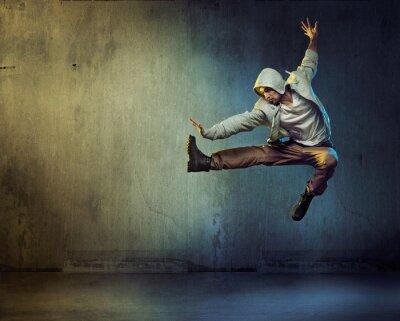 Image Athlétique, danseur, saut, pose