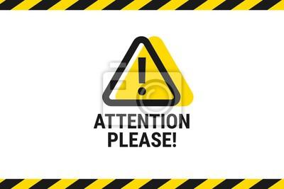 Image Attention, s'il vous plaît. Annonce importante. Faites attention. Illustration vectorielle