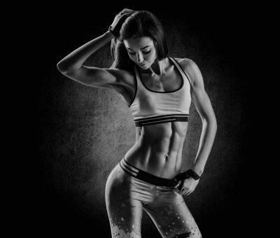 Image attractive femme de remise en forme, corps féminin formé, style de vie portrai
