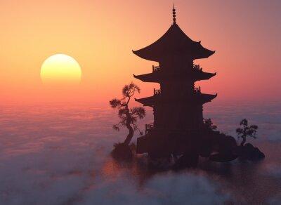 Image Au coucher du soleil.