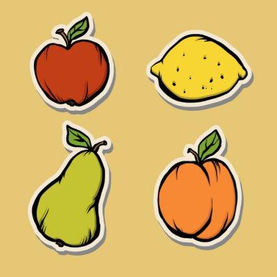 Autocollants à fruits