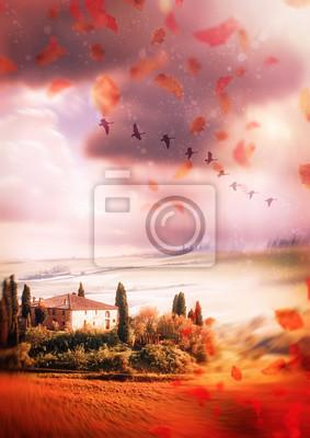 Image Automne en toscane. Contexte