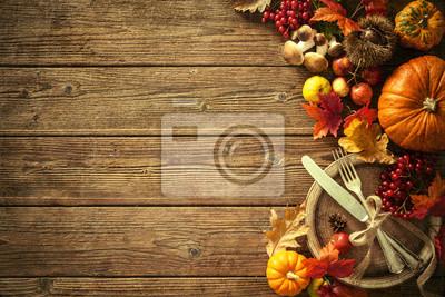 Image Automne, fond, tombé, feuilles, fruits, vendange, pla
