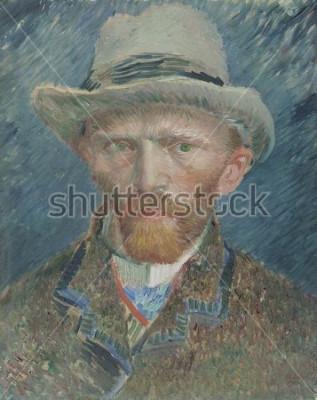 Image Autoportrait, de Vincent van Gogh, 1887, peinture à l'huile néerlandaise. Il se présente ici comme un parisien à la mode
