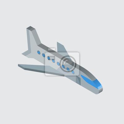 Image Avion Icône Vecteur Signe Et Symbole Isolé Sur Fond Blanc Conception