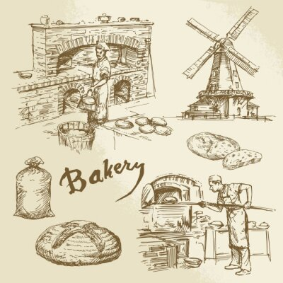 Image baker, bakery, bread