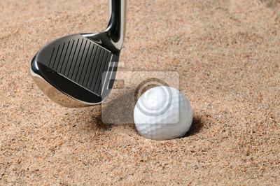 Balle de golf dans Sand Trap