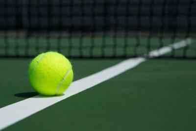 Image Balle de tennis avec Net en arrière-plan