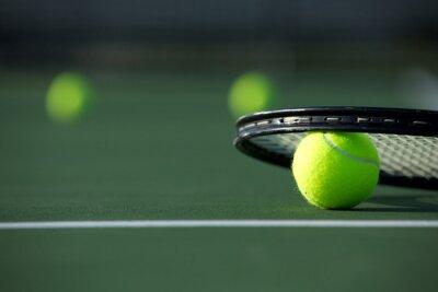 Image Balle de tennis et raquette