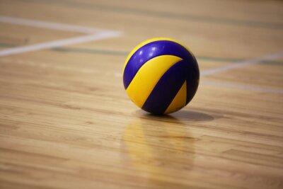 Image Balle de volley-ball sur le sol