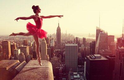 Image Ballet, danseur, devant, nouveau, York, Horizon