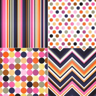 Image bandes sans soudure, zig zag et de points de polka