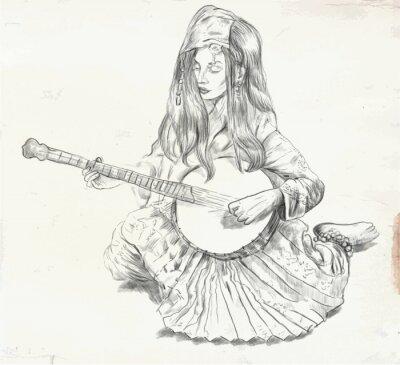 Image Banjoïste - illustration vectorielle (converti)