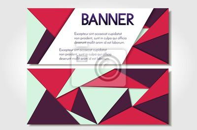Image Bannire Abstraite Coupon Invitation Carte De Visite En Formes Gomtriques Style
