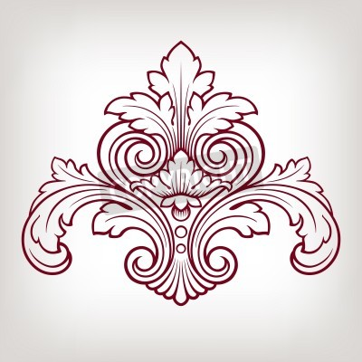Image Baroque élément de motif de cadre design vintage floral gravure style rétro