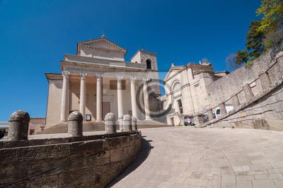Basilica di San Marino. Église catholique de style néoclassique
