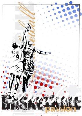 Image basket-ball affiche de vecteur fond