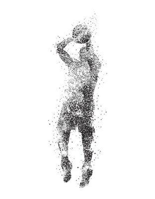Image Basket-ball, joueur, silhouette