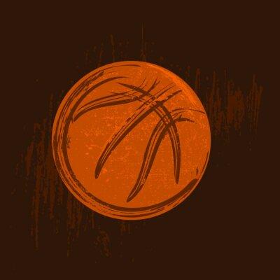 Image Basket-ball, symbole, dessin, noir, coups, sombre, fond