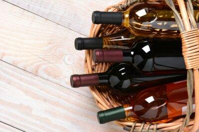 Image Basket of Wine Bottles