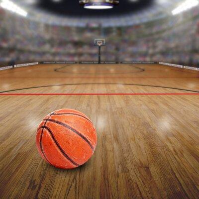 Image Basketball, arène, balle, cour, copie, espace Rendu dans Photoshop.