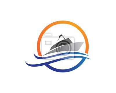 Bateau De Croisiere Logo Template Vector Icon Design Peintures