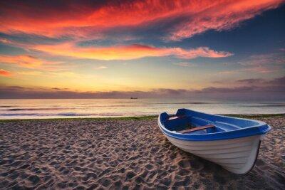 Image Bateau et le lever du soleil