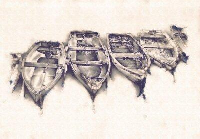 Image Bateau sur la mer ou l'océan art illustration