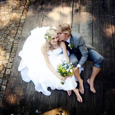 Image Beau couple de mariage