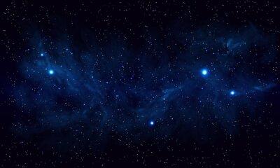 Image Beau, espace, bleu, nébuleuse, réaliste, vecteur