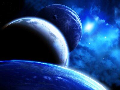 Image Beau, espace, scène, parade, planètes, nébuleuse