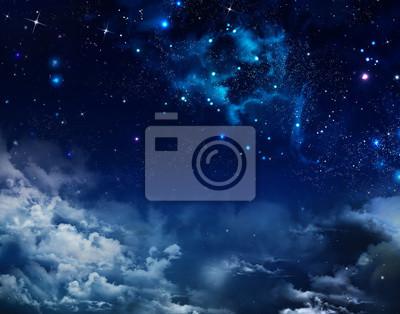 beau fond de ciel de nuit avec les étoiles
