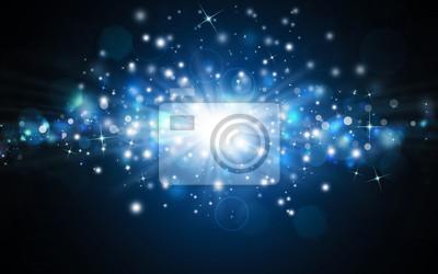 beau fond festive bleu avec des rayons et des étoiles