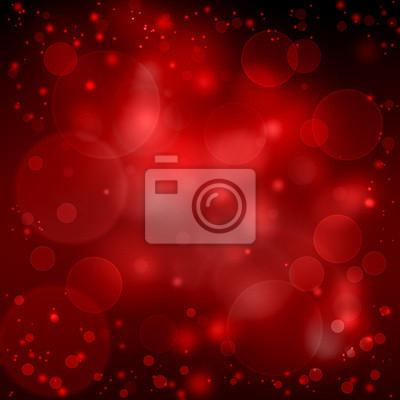 beau fond romantique de bokeh rouge