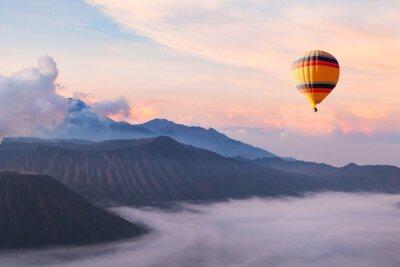 Image Beau, inspiration, paysage, à, chaud, air, balloon, voler, ciel, voyage, destination