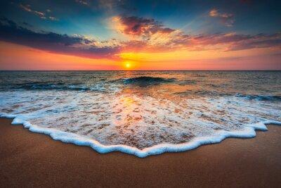 Image Beau, lever soleil, mer