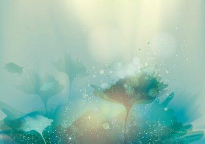 Image Beau paysage abstrait / fond floral magique
