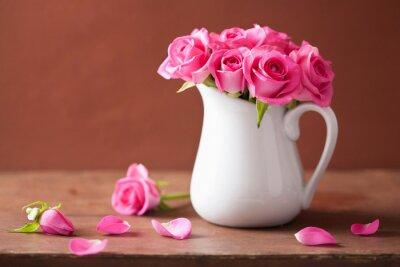 Image Beau, rose, roses, bouquet, vase