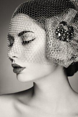 Image Beau visage de femme. Maquillage parfait