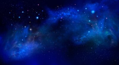 beautiful background of the night sky with stars - deep space