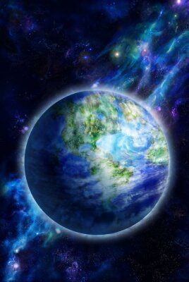 Image Beautiful Earth is in space