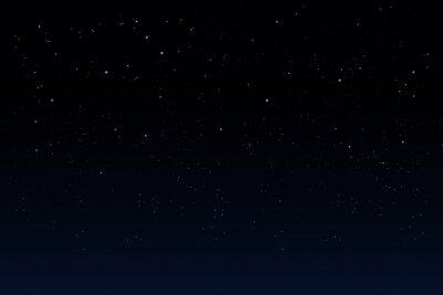 beautiful night sky - background with stars