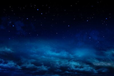 beautiful night sky - background with stars and clouds